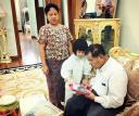 Former Burma Supremo Seen in Rare Photo With Granddaughter