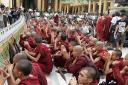 Monks Add Voices to Shwedagon Protection Calls